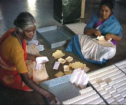 artigiane del sapone dall'India