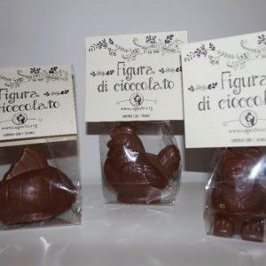 animali di cioccolato