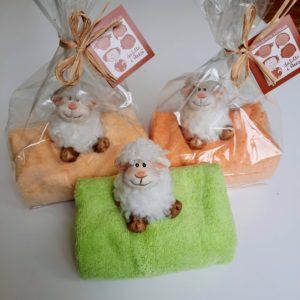 asciugamanino con pecorella