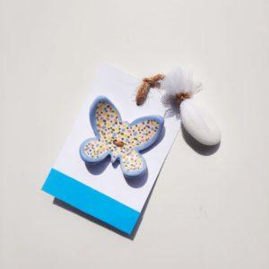 farfalla ceramica con confetto