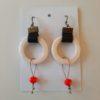 orecchini con anello di ceramica